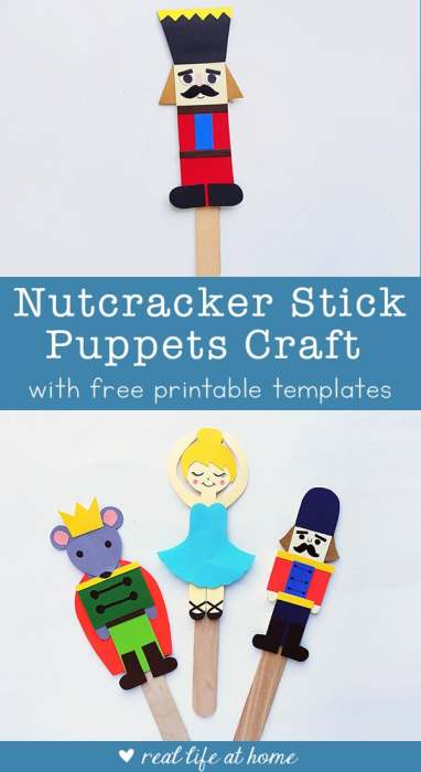 Nutcracker Craft for Kids: Nutcracker Ballet Stick Puppets