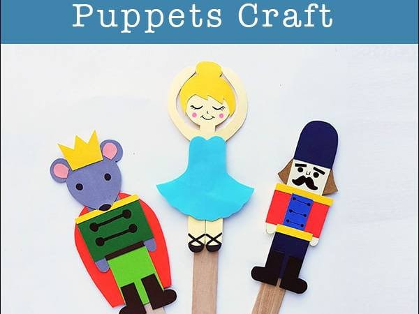 Nutcracker Craft for Kids: Nutcracker Ballet Stick Puppets (with Free Templates)