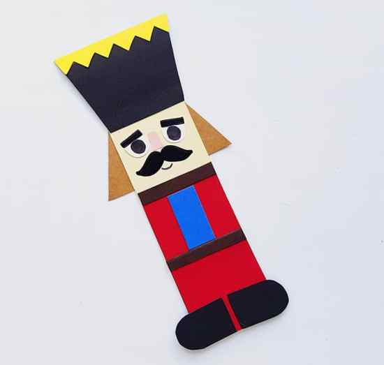 Step four of Nutcracker Stick Puppet Craft for Kids