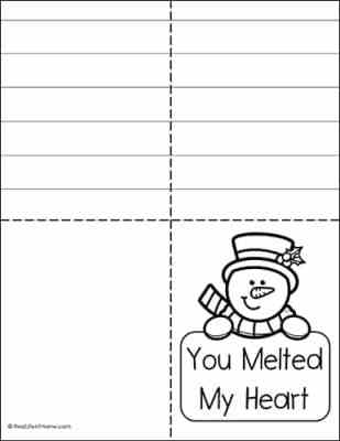 Color Your Own Thank You Card for Kids (from a free set)