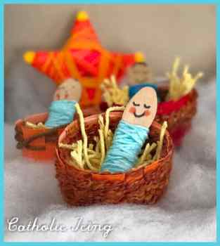 Baby Jesus in a Manger Inexpensive Craft