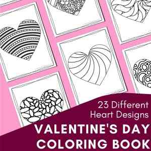 Valentine's Day Coloring Pages for Kids and Adults (with free and paid options)