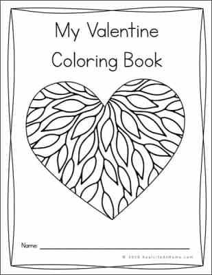 My Valentine Coloring Book Printable (Valentine Coloring Pages)