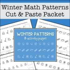 Free Math Patterns Packet for Preschool - 1st Grade