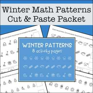 Free Math Patterns Packet for Preschool - 1st Grade