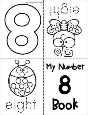 Printable number book 1 10