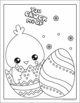 Easter Coloring Page from Real Life at Home