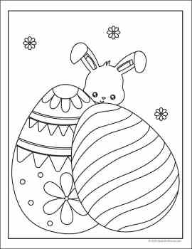 Free Easter Coloring Pages Set from Real Life at Home
