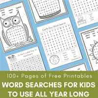 Free Word Search Printable Puzzles for Kids - 100+ Free Printable Pages