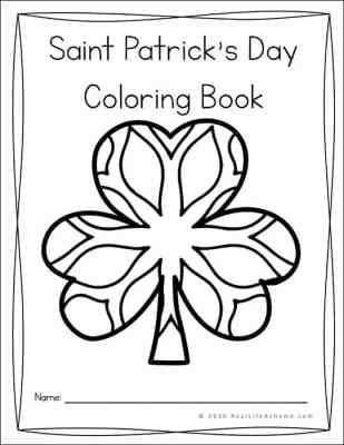 Saint Patrick's Day Shamrock Coloring Book for Kids and Adults