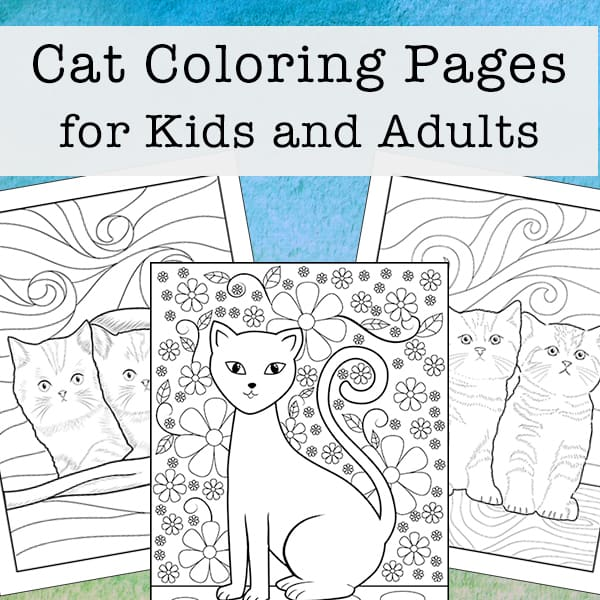 Two cute Cats color page | Cat coloring page, Animal coloring ... | 600x600