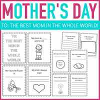 Printable Questionnaire Mother's Day Mini Book for Kids