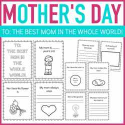 Questionnaire Mother's Day Mini Book Printable