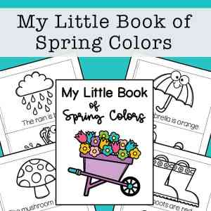 My Little Book of Spring Colors Mini Book Free Printable