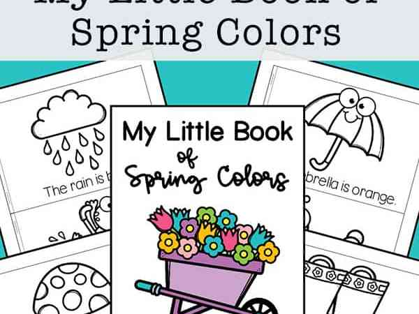 My Little Book of Spring Colors Mini Book (Free Printable)