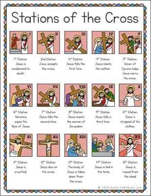 Printable Illustrated Stations of the Cross List for Kids (and Adults)