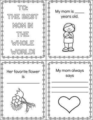 Printable Mother's Day Mini Book