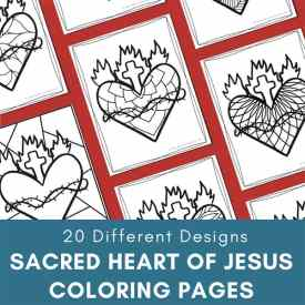 Sacred Heart of Jesus Coloring Pages