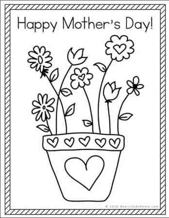 Happy Mother's Day Coloring Page (free printable from Real Life at Home)