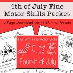 4th of July Fine Motor Skills Packet