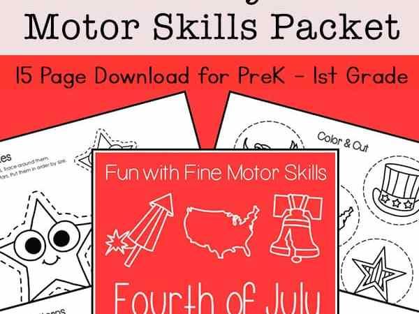 4th of July Fine Motor Skills Packet for Preschool – 1st Grade