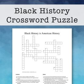Free Printable Black History Crossword Puzzle for Kids and Teens