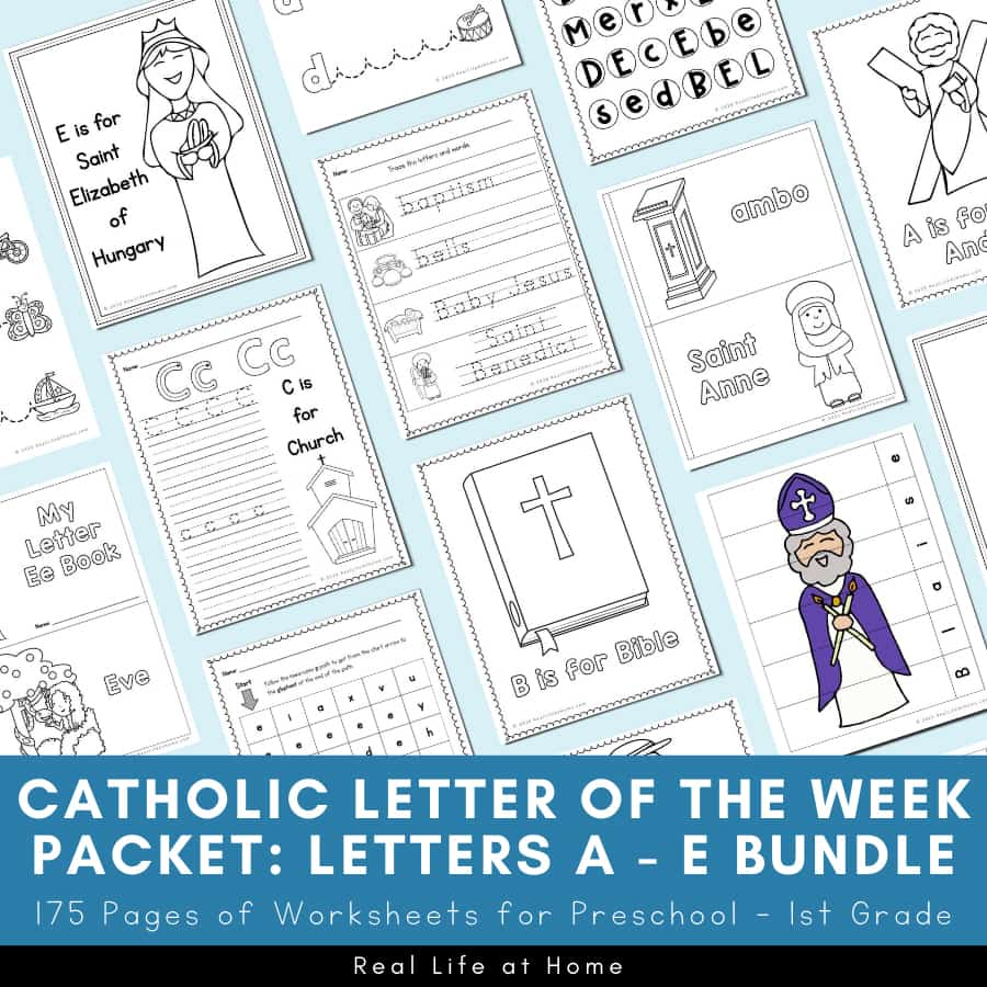medium resolution of Catholic Letter of the Week Worksheets and Coloring Pages for A - E