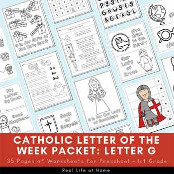 Catholic Letter of the Week Packet - Letter G