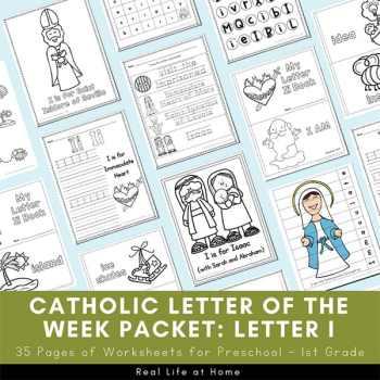 Catholic Letter of the Week - Letter I Packet