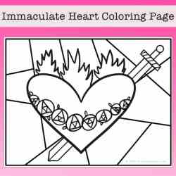 Immaculate Heart of Mary Coloring Page