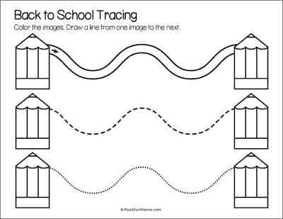 School Line Tracing Page