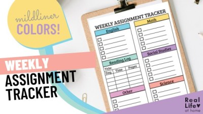 Weekly Assignment Planner Sheet