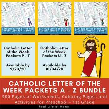 Catholic Letter of the Week A - Z Bundle