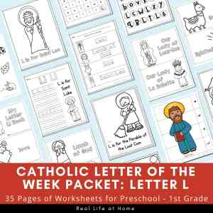 Catholic Letter of the Week Packet - Letter L