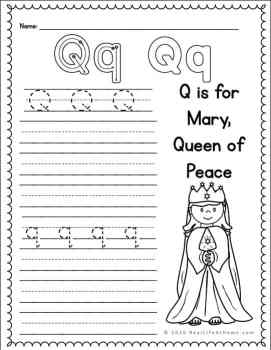 Q Handwriting Page
