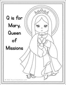 Mary Queen of Missions Coloring Page