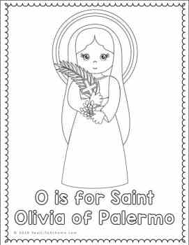 Saint Olivia of Palermo Coloring Page