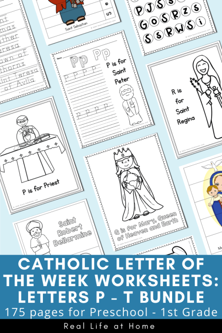 Catholic Letter of the Week Letters P - T Bundle
