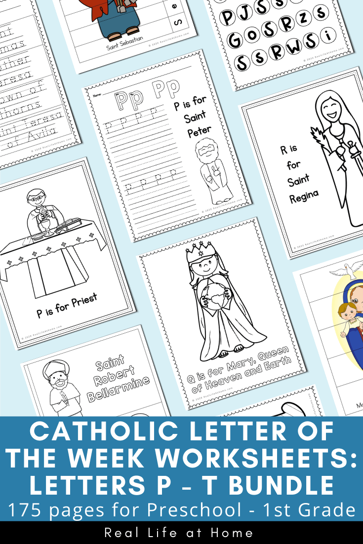medium resolution of Catholic Letter of the Week Worksheets and Coloring Pages for P - T