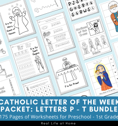 Catholic Letter of the Week Worksheets and Coloring Pages for P - T [ 900 x 900 Pixel ]