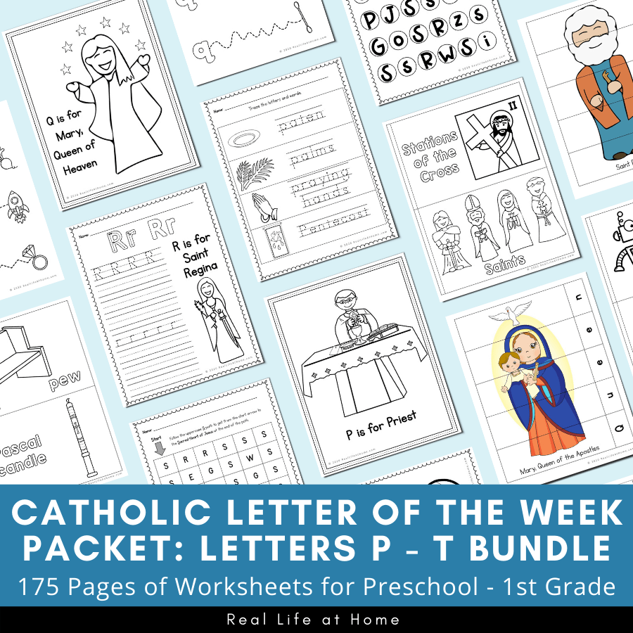 hight resolution of Catholic Letter of the Week Worksheets and Coloring Pages for P - T