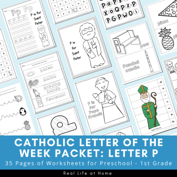 Catholic Letter of the Week Packet - Letter P