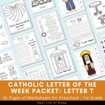 Letter T - Catholic Letter of the Week Packet