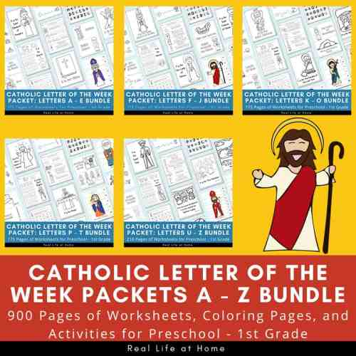 small resolution of Catholic Letter of the Week Worksheets and Coloring Pages for K - O