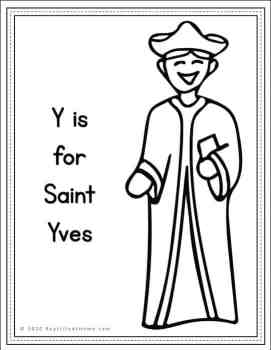 Saint Yves Coloring Page