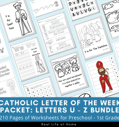 Catholic Letter of the Week Worksheets and Coloring Pages for U - Z [ 900 x 900 Pixel ]