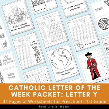 Letter Y - Catholic Letter of the Week Packet