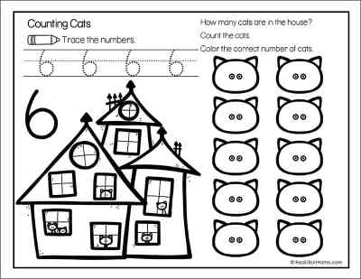Halloween Numbers Page for Kids