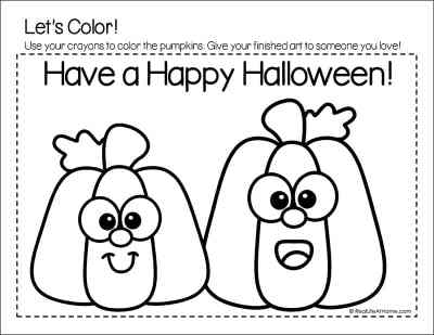 Color Your Own Halloween Card