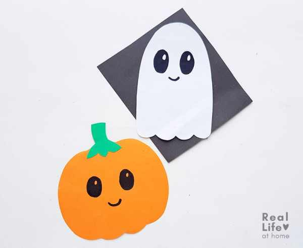 Pumpkin and Ghost Paper craft for Kids